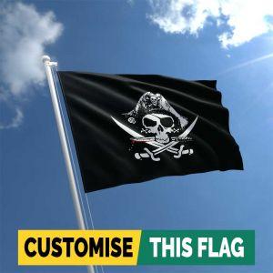 Crossed Sabres Pirate flag