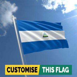 Custom Nicaragua flag
