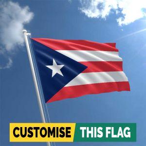Custom Puerto Rico flag